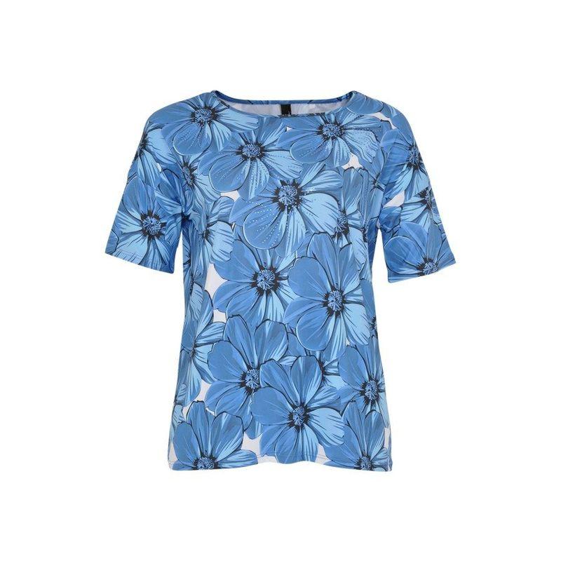 Yoek Shirt a-lijn print met strass