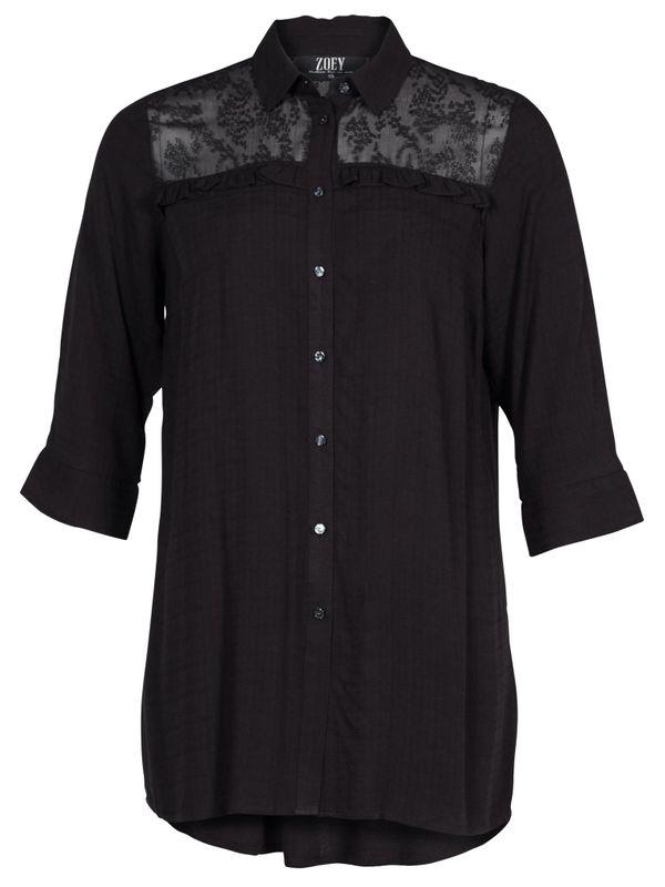 Zoey Shirt long zwart MACY