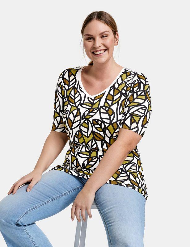 Samoon Shirt met print bladeren