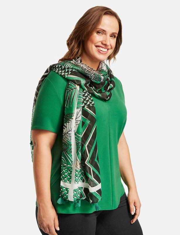 Samoon Sjaal print groen