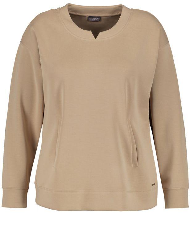 Samoon Sweater jersey zand
