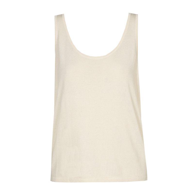 Xandres Gold Top linnen gebreid wit X-ALOF