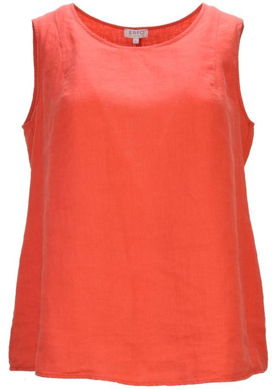 Erfo Top linnen koraal rood