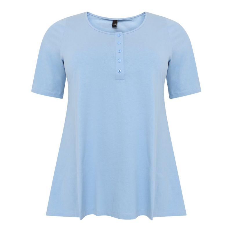 Yoek Tuniek flare licht blauw coton