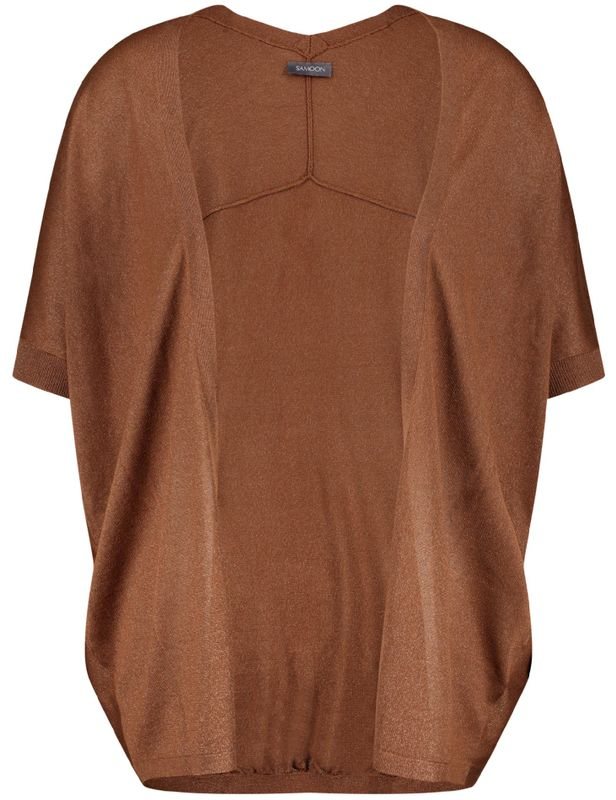 Samoon Vest bruin dun gebreid