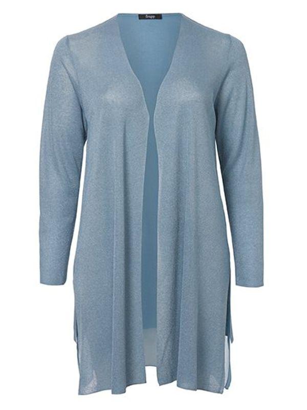 Frapp Vest dun gebreid licht blauw