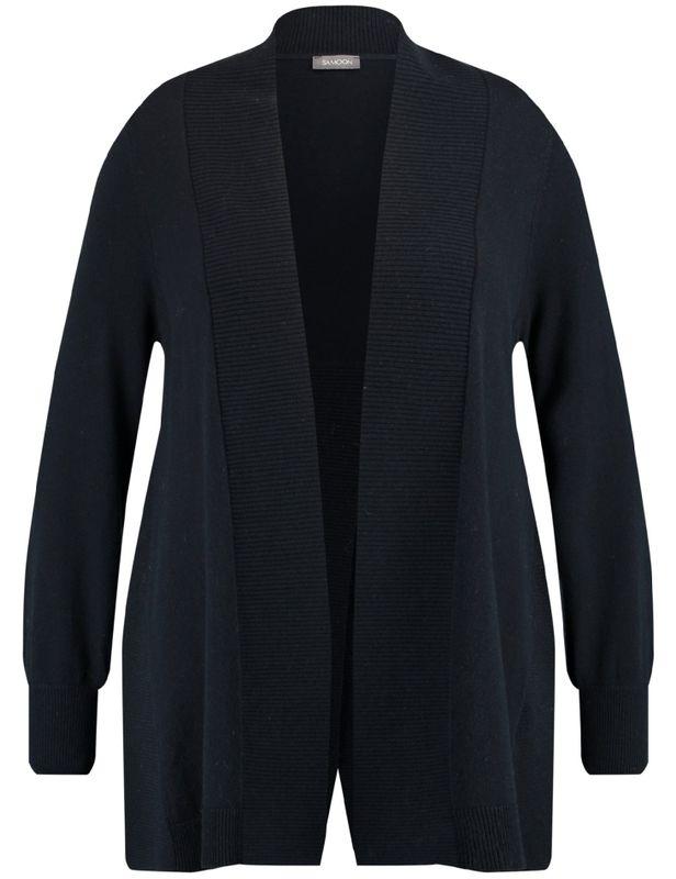 Samoon Vest gebreid blauw