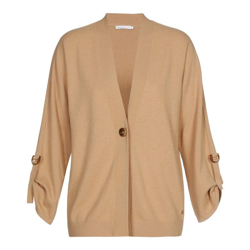 Xandres Gold Vest knoopsluiting camel GASIR