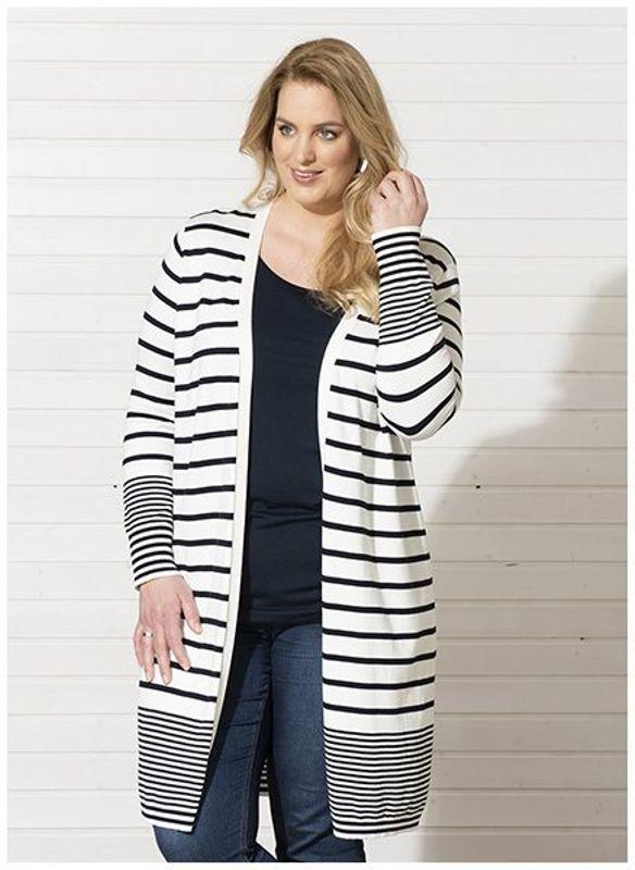 Request Vest streep marine / off white